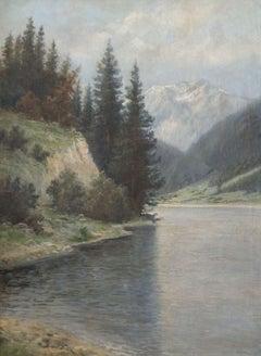 Lake Alpine mountain. 1896, canvas, oil, 98x73,5 cm