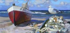 Sunday morning. 2020. Oil on canvas, 30x60 cm