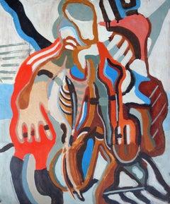 Two. Bilateral. 1990. Cardboard, tempera, 56x47 cm