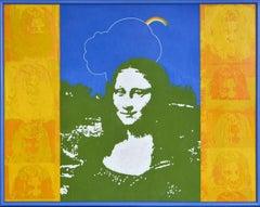 Summer I. 1972, cardboard, mixed media, silk screen printing, 80x100 cm