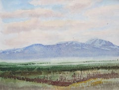 Blue mountain. 1975. Watercolor on paper, 14x19 cm