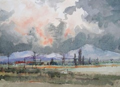 Evening. 1975, paper, watercolor, 14x19,4 cm