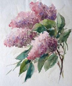 Lilac. 1975, paper, watercolor, 20x17,3 cm