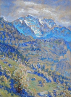 Switzerland. 1916. Paper, pastel, 41x30 cm