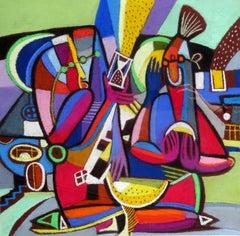 Hourglass. 2000. Paper, pastel, 36x37 cm