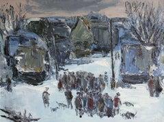 Winter landscape. 1984, canvas, oil, 60x80 cm