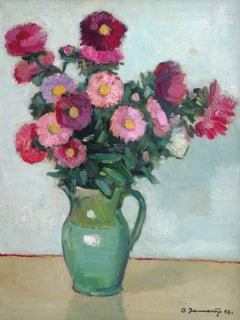 Autumn flowers. 1992, oil on cardboard, 65x50 cm