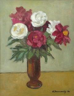 Peonies. 1994, oil on canvas, 63x48,5 cm