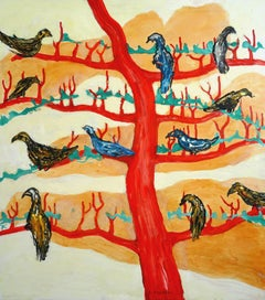 Birds large and small. 2015. Oil on canvas, 95x85 cm
