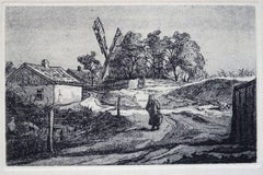 The road from the mill. 1975 Paper, etching, 10x14.5 cm