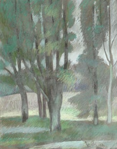 Trees in the park. 1978. Paper, pastel, 37.5x29.5 cm