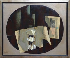 Glass. 1993. Oil, collage on canvas, 57x69 cm