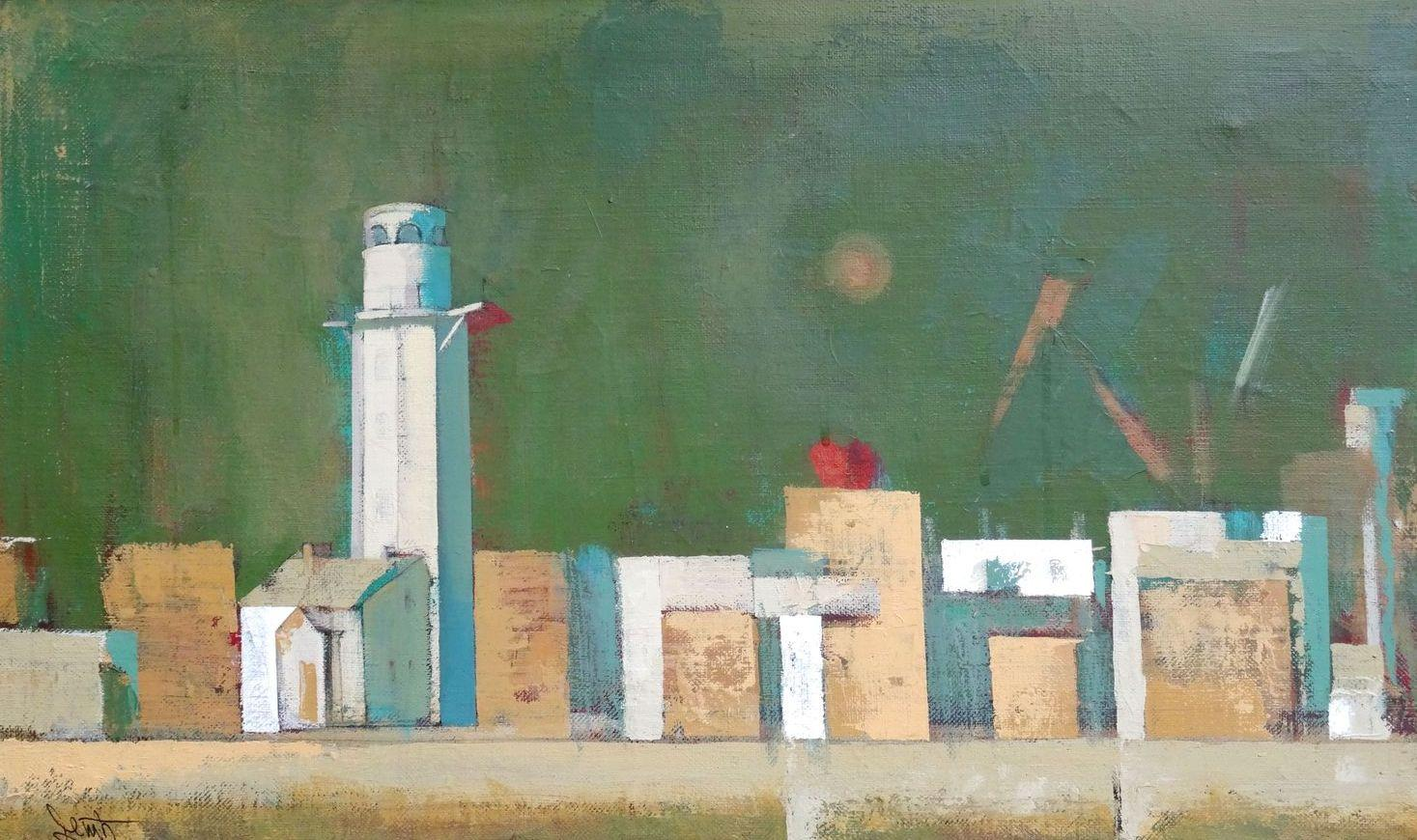 In the port. 1998, oil on canvas, 44x73 cm