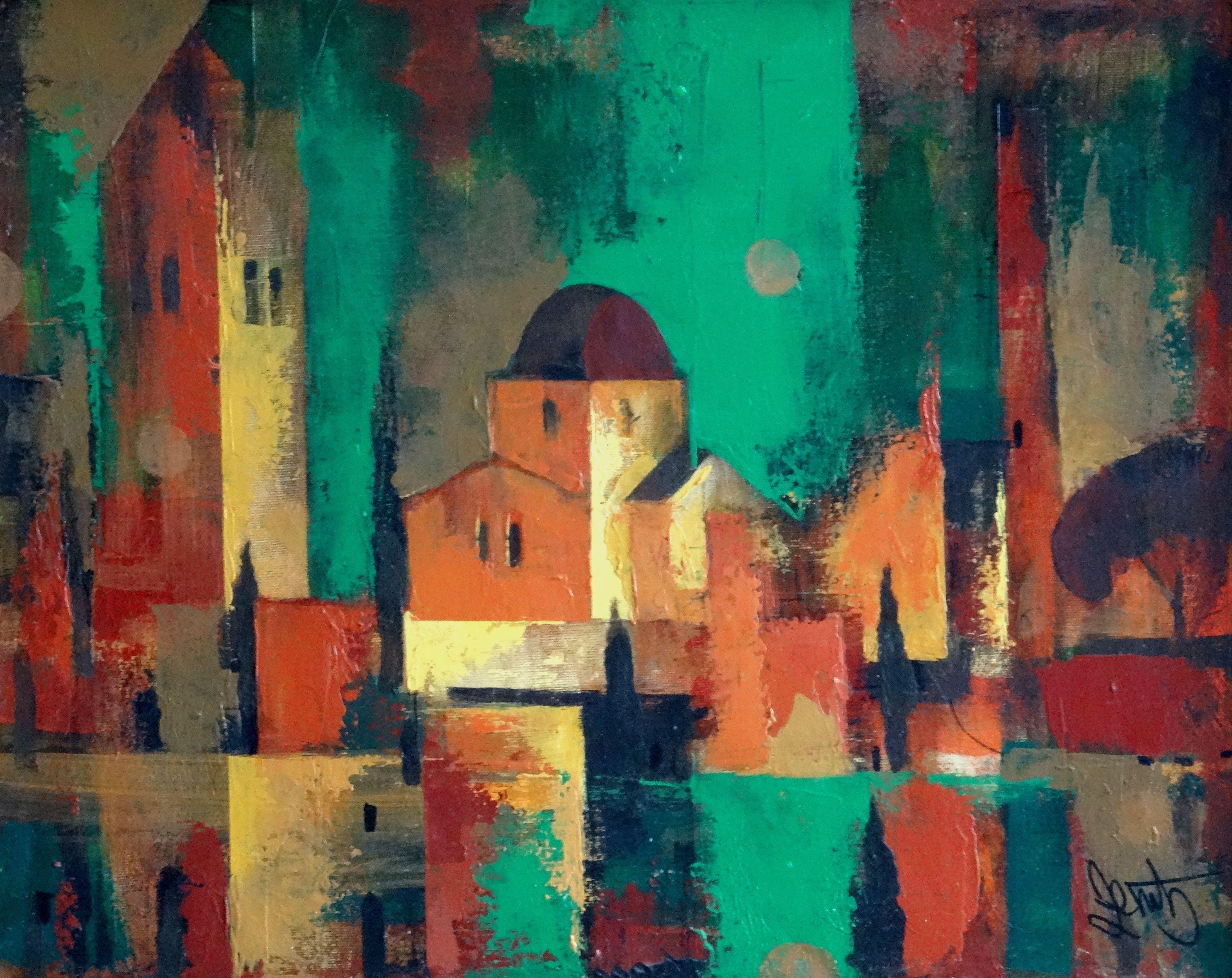 Winter in Jerusalem. 1997 oil on canvas, 40x50 cm