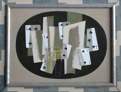 Game X. 2004, oil, collage on cardboard, 30х40 cm