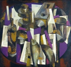 Still life with a bottle. 1994, oil on cardboard, 93,5 x 101 cm
