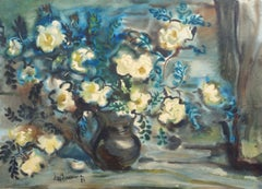 Still life with flowers. 1986. Paper, watercolor, 61.5x86 cm