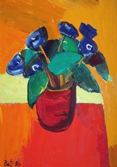 Spring flowers. 1984, oil on cardboard, 90x70 cm