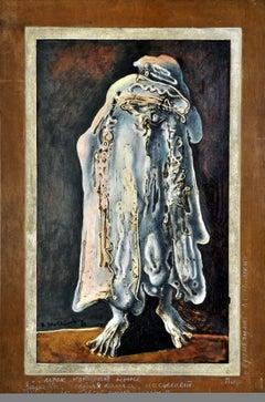 Guest. 1981, author technique on plywood, 89x54,5 cm