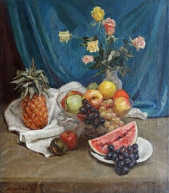 Still life with fruits. 1930, oil on canvas, 64x56 cm