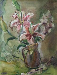 Lilies. 1995. Paper, watercolor, pastel, 47.5x34.5 cm