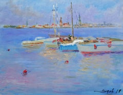 Boats. 2019. Canvas, oil, 40x50 cm