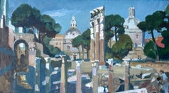 Memories of Italy. 1965. Oil on canvas, 42x75,5 cm