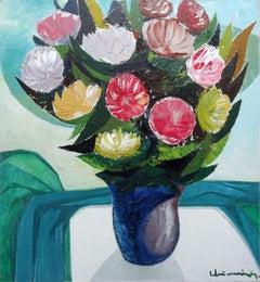 Flowers. 1979. Oil on canvas, 100x92 cm