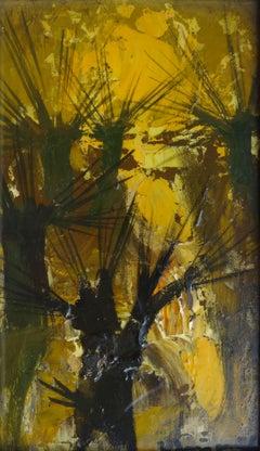 Reflection. 1999, cardboard, oil, 20,5x12 cm