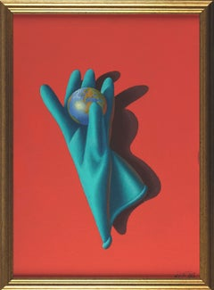 Gentle hands that rule the world. 2020. Canvas, cardboard, oil, 60x42 cm