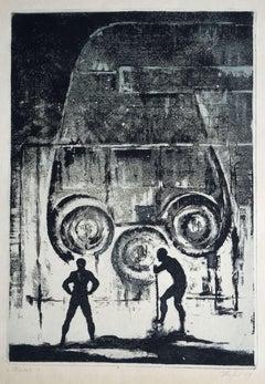 Moloch. 1989. Paper, etching, 53.5x38 cm