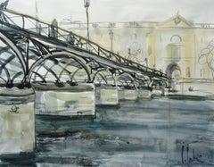 Pont des Arts. Bridge at Paris. 2010. Watercolor on paper, 40x50 cm