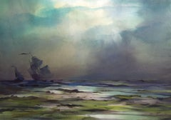 Great grandfather at sea I. 2019. Watercolor, paper, 67 x 95,5 cm