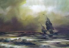 Great grandfather at sea II. Watercolor, paper, 67 x 95,5 cm