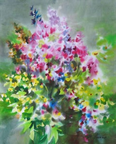 Bright summer flowers. 2020. Watercolor, paper, 74 x 59 cm