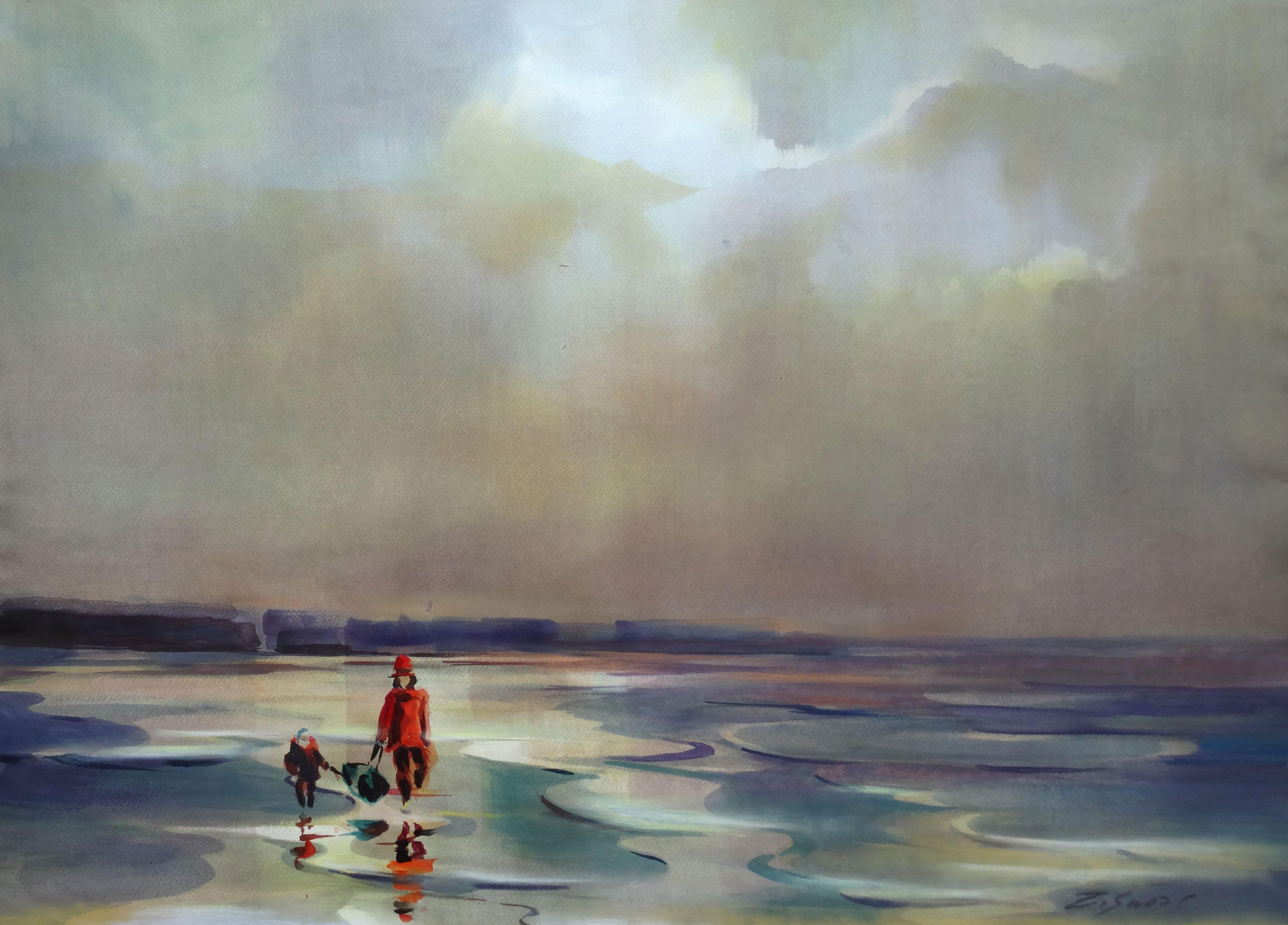 Walk by the sea. 2020. Watercolor, paper, 69,5 x 96 cm