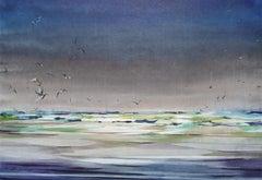 Birds. 2020. Watercolor, paper, 66 x 96 cm