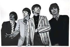 """""""Beatles"""", 3D Painted Metal Wall Sculpture"""