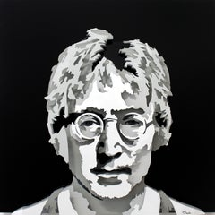 """""""John Lennon"""", 3D Painted Metal Wall Sculpture"""