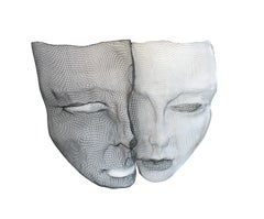 Black and White Face, Mesh Sculpture