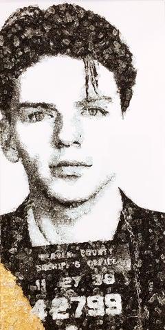 Ol Blue Eyes' - Frank Sinatra, Shattered Glass on Canvas