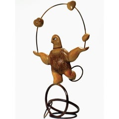 Juggling Love - Large, Bronze