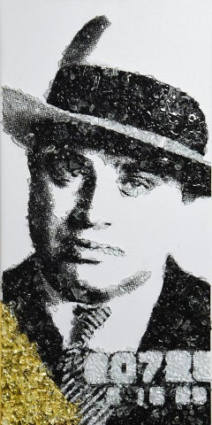 """""""Scarface Capone'"""" - Al Capone, Shattered Glass on Canvas"""