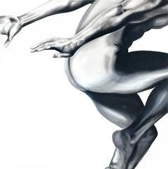 Jump 1, Oil on Canvas