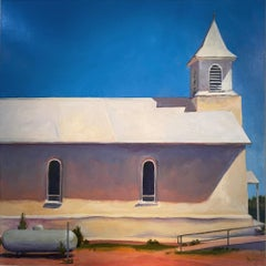 'Church, Dilia New Mexico,' Acrylic on Panel by John Wolfe