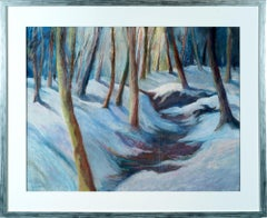 'Snowy Forest,' Pastel on Paper by Regina Murphy