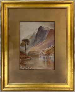 'Scottish Landscape Scene,' Watercolor on Paper, by Unknown Artist  signed'E.J.'