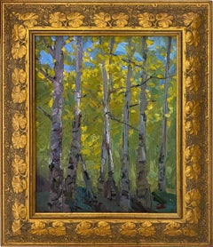 'River Birch,' Oil on Canvas by James Cobb