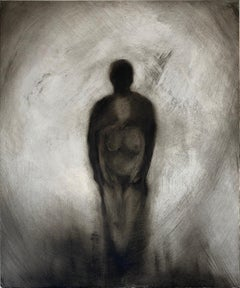 'Tethered' Contemporary Figurative Oil on Panel Painting by Marc Barker