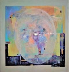 'Moon in Mirror,' Acrylic on Canvas by Dragana Milovic